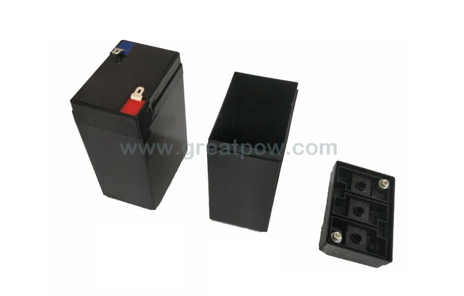EJ06-04A SLA plastic lithium battery box for 6PCS 18650 Lithium battery cells