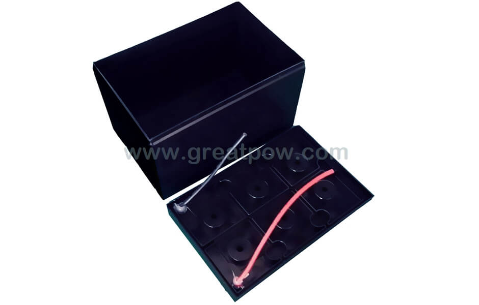 EJ12-10A SLA Battery housing Li-ion case without grids for 28pcs 18650 lithium-ion battery pack