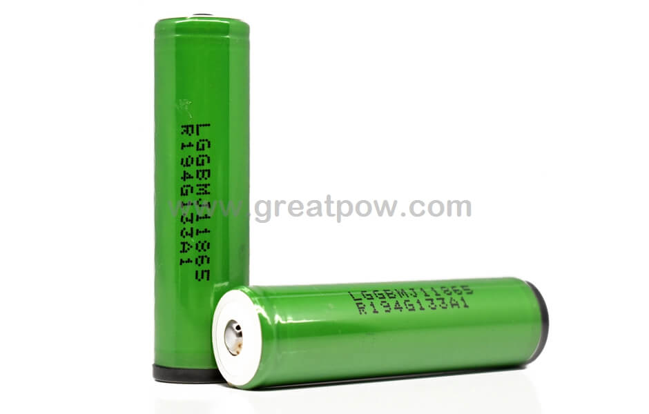 LG MJ1 18650 3500mAh 10A - Button Top Protected Battery