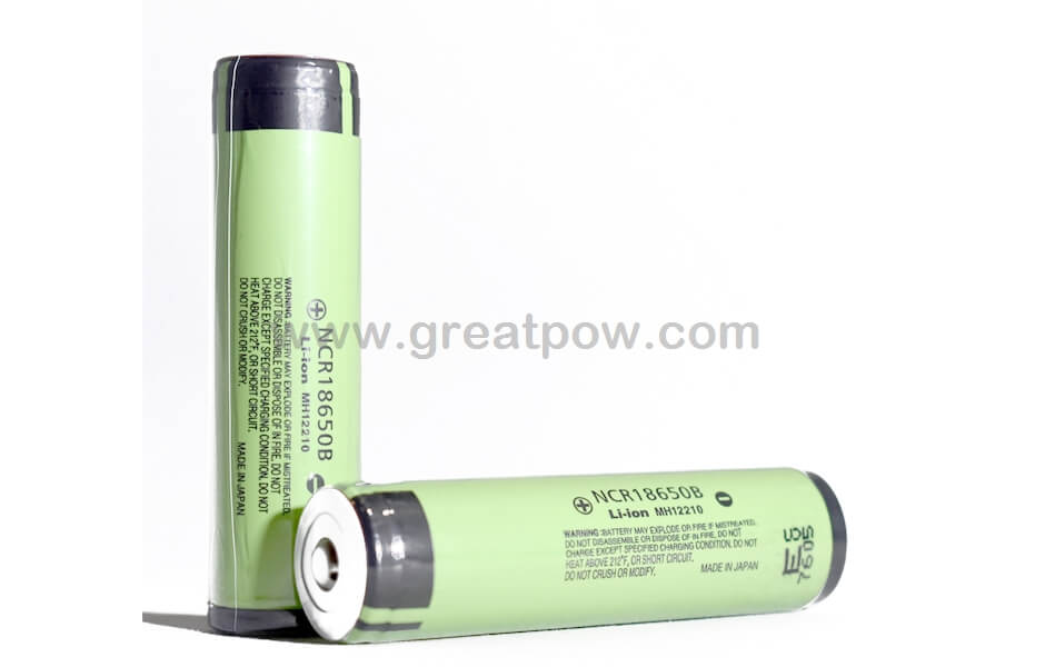 Panasonic NCR 18650B 3400mAh 4.9A - Protected Button Top Battery