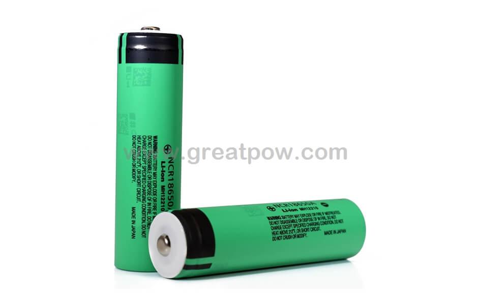 Panasonic NCR18650A 3100mAh 6.2A Button Top Battery