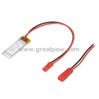 LP401235 120mAh 3.7V Polymer Lithium Battery Li-Po Size 4.0×12.0×35.0mm 2