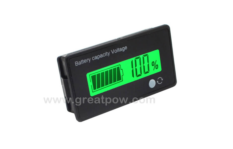 12V-84V Li-ion Battery Capacity Indicator Voltage Meter Voltmeter LCD Monitor