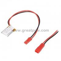 LP401520 70mAh 3.7V Polymer Lithium Battery Li-Po Size 4.0×15.0×20.0mm 2