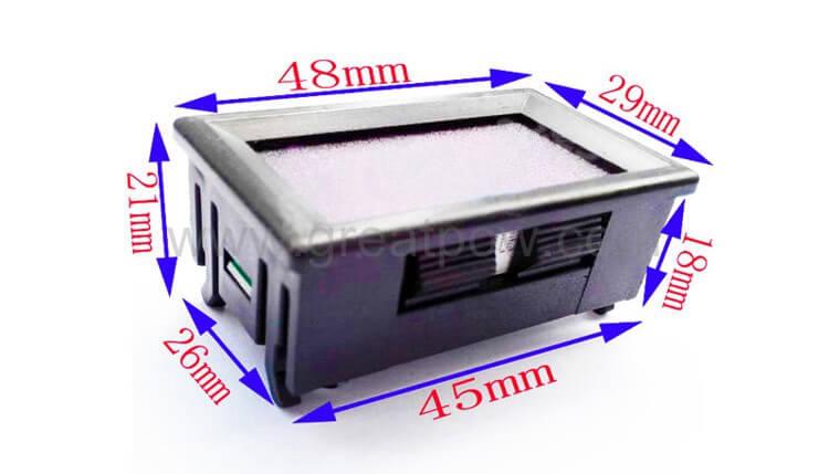 EJ-FG13 Coulometer dimension