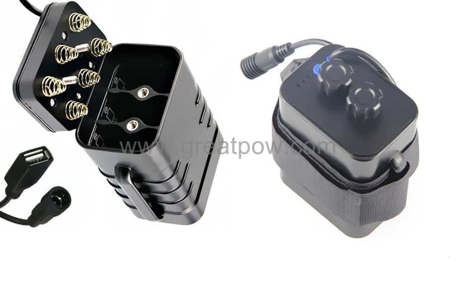 Waterproof 18650 Battery Pack Case USB 5V DC 8.4V 12v