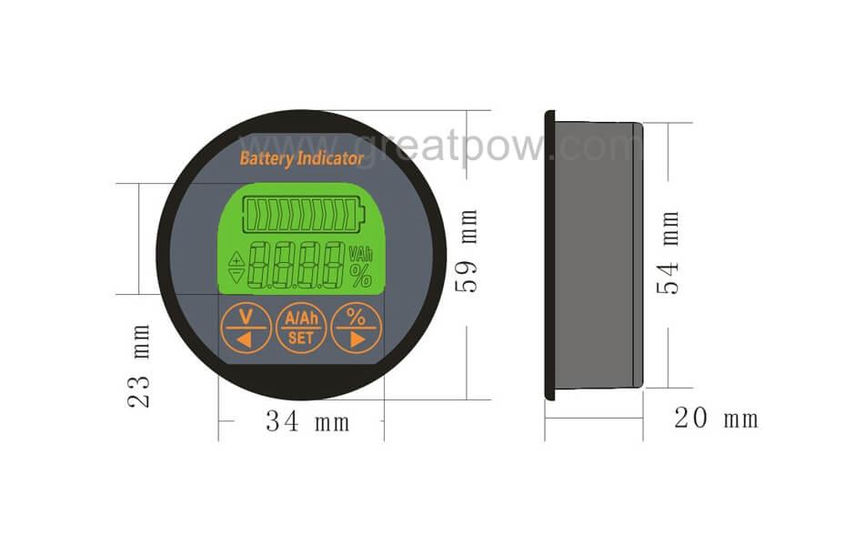 ej-bc21 battery monitor dimension