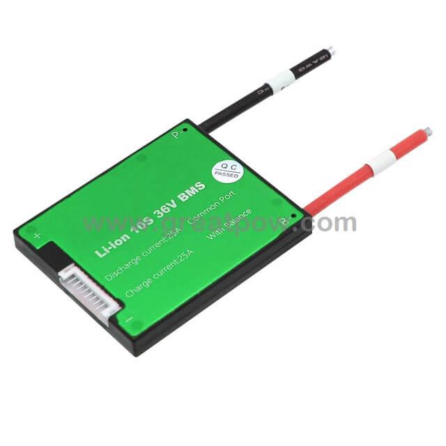 10S Battery pack bms 10S 36V 16A 25A 35A 45A 60A BMS Used for 36v 10ah 35ah 60ah battery 60A conti