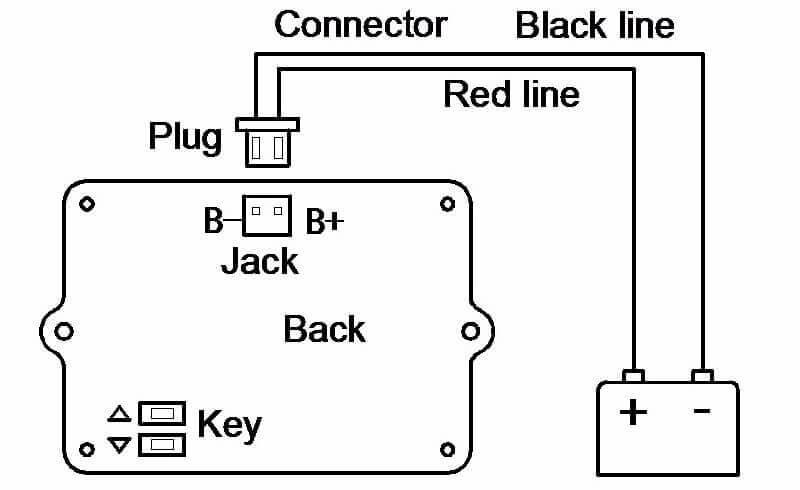 EJ-FG06 battery SOC display connect method