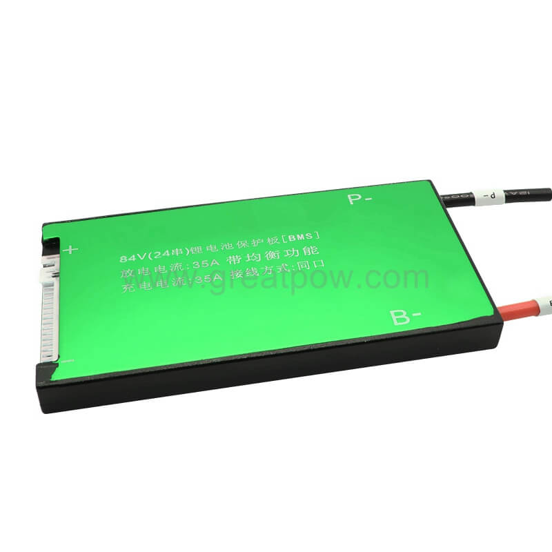 Waterproof BMS 18650 Battery BMS 24S 25A 35A 45A 60A for 84V lithium battery pack