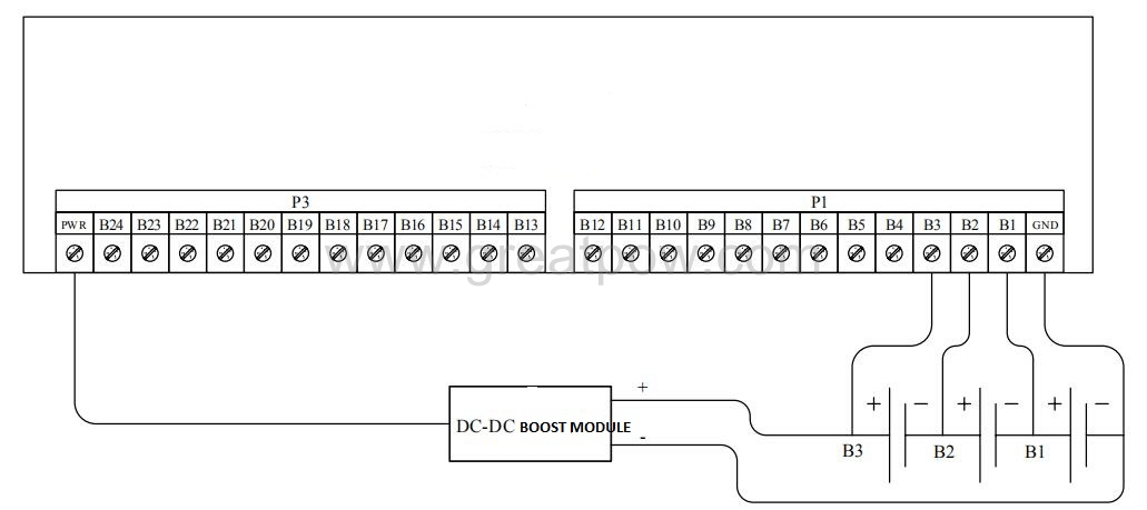 Figure 5 Wiring diagram with the boost module