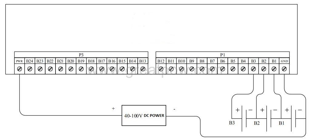 Figure 6 External power supply wiring diagram