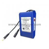 12v 6800mah battery meter 12v dc rechargeable li-ion battery pack 12