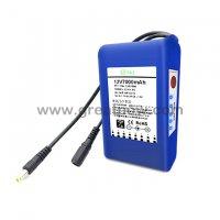 12v 7000mah battery meter 12v dc rechargeable li-ion battery pack 13