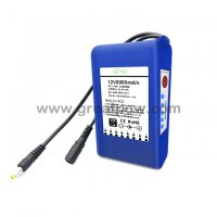 12v 8000mah battery management system portable 12v dc rechargeable li-ion battery pack with indicator 11