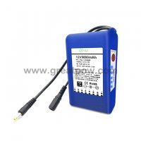 12v 9000mah battery monitor portable 12v dc rechargeable li-ion battery pack 10