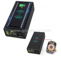 12V 5V Output 10W 12.6V 12800mAh Wireless charging function Dual Output External Battery Power Bank 3