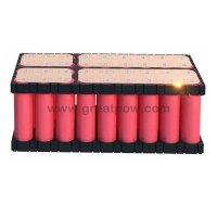 6S6P 22.2v 25.2v 60A 21000mAh SANYO NCR18650GA battery pack with holder bracket 5