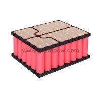 6S8P 24V 28ah 25.2v  28000mAh 80A SANYO NCR18650GA battery pack with holder bracket 8
