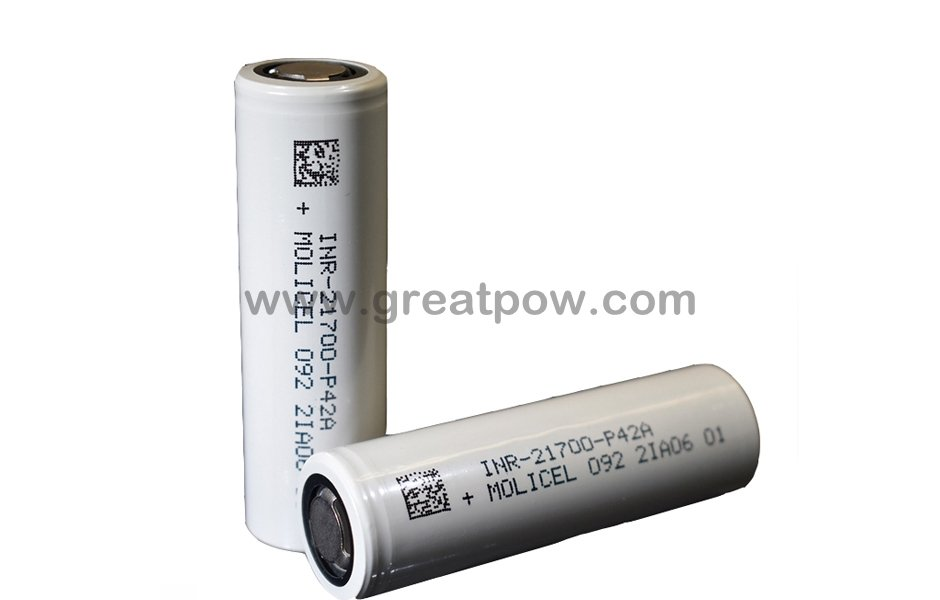 Molicel Low Temperature INR21700-P42A P42A 4200mAh 45A Battery 5