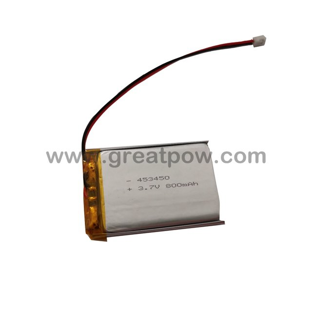 LP453450 800mAh 3.7V Polymer Lithium Battery Li-Po Size 4.5×34.0×50.0mm 2