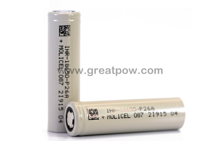 -40 degree low temperature battery MolicelNPE INR-18650-P26A 35A 2600mAh Flat Top 1