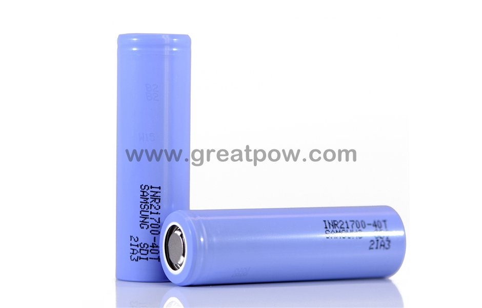 Flat Top Samsung 40T 21700 4000mAh 35A Battery 3